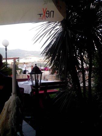 Restoran Olimp: вид на море с веранды Олимпа