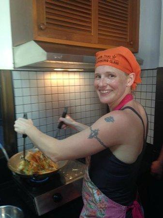 Kata Thai Cooking Class: Cooking away