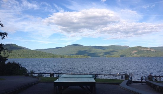 Candlelight Cottages LLC on Lake George: View of Lake from the parking lot.. Absolutely gorgeous!!!