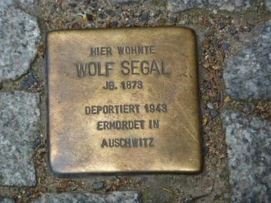 The Berlin Experts- Walking Tours: one of many plaques describing the Jewish resident when and where he was deported and murdered