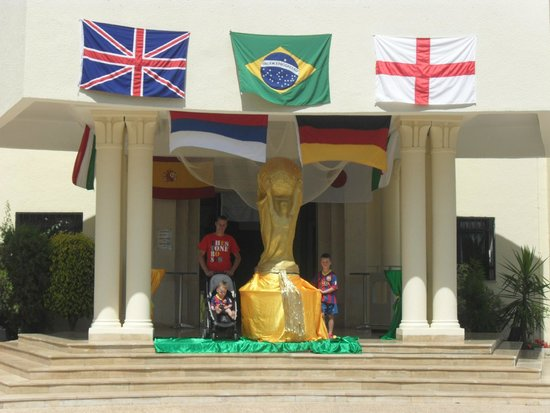 Holiday Village Manar: Nice touch for the world cup