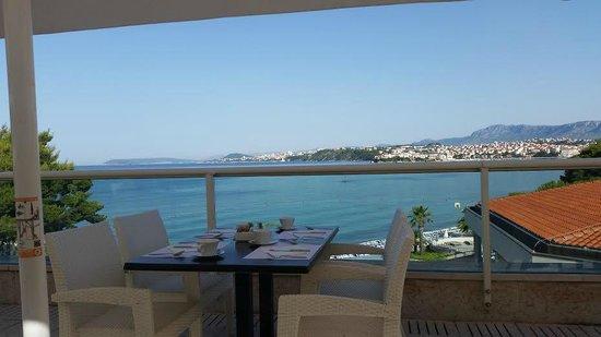 Le Meridien Lav Split : View from Spalatium restaurant in the morning