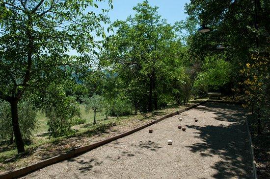 Agriturismo Azienda Agricola il Pozzo: Pallaio campo bocce tavolo da ping pong esterno bowling field ping pong table