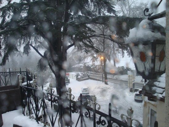 White Waters Country Hotel: Snowy view from our room