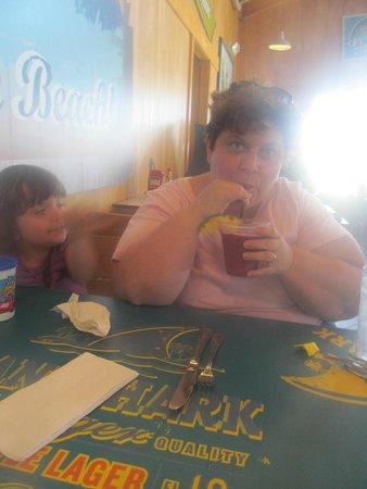 LandShark Bar & Grill Atlantic City: sipping on my virgin mixed berry drink