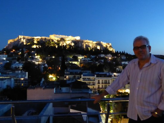 Plaka Hotel: View from Roof Top Bar