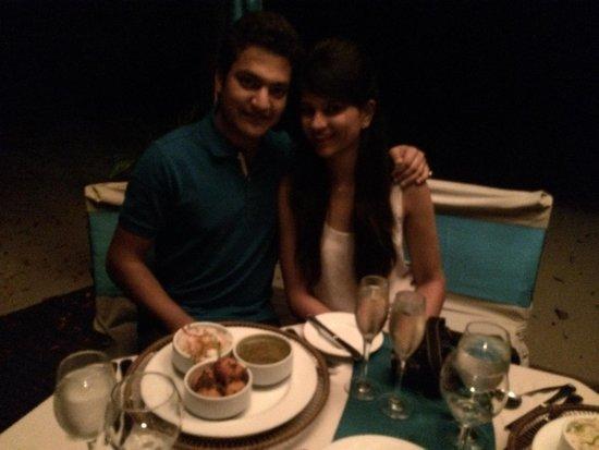 Namale the Fiji Islands Resort & Spa: Romantic dinner by d beach