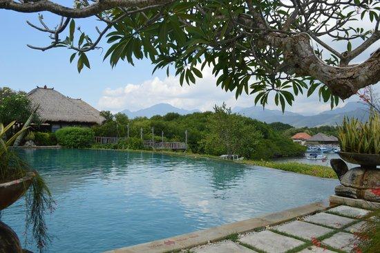 Naya Gawana Resort & Spa : Uitzicht van het zwembad