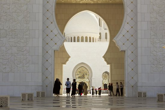 Mezquita Sheikh Zayed: Sheikh Zayed Grand Mosque. Entrance