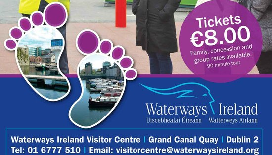 Grand Canal Walking Tour from the Waterways Ireland Visitor Centre