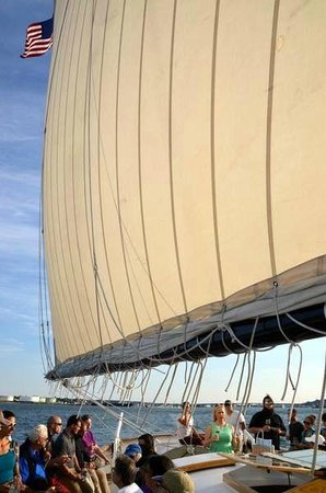 Wine Wise Events: Out to sea on board Frances for our Wine Sail in Casco Bay.