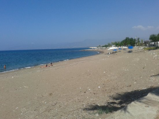 Latchi Beach: the beach front