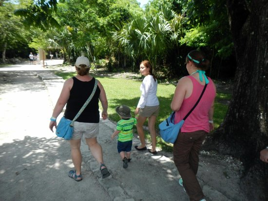 The Native Choice Tours: Raquel, holding Jake's hand as we tour Mayan ruins.