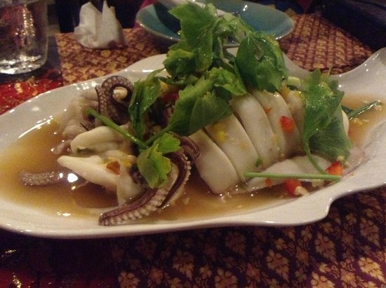 Sawasdee Restaurant: 名前は失念(イカの料理)