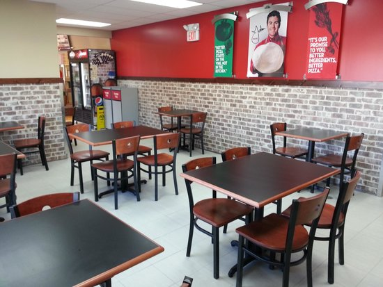 Papa John's: Our NEW SEATING area!