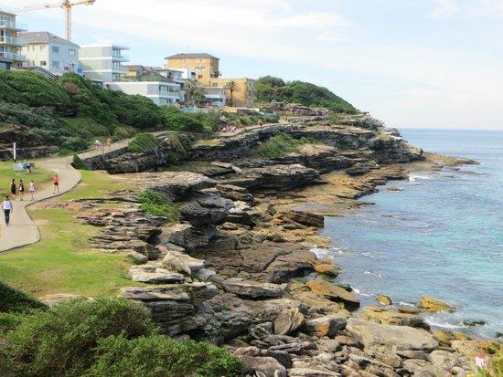 Bondi to Coogee Beach Coastal Walk : path alongside the cliffs