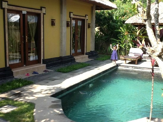 Tirtarum Villas, Canggu Bali: Biggest disappointment! So much chlorine we couldn't use the pool!