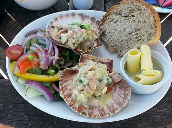 The West Bay Hotel: hand dived scallops