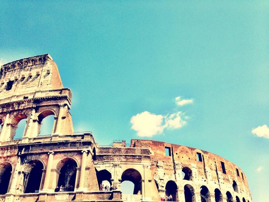 The Colosseum from the outside