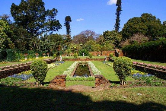 Durban Botanic Gardens: Gorgeous sunken garden, planted with annuals