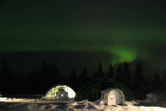 Kakslauttanen Arctic Resort: Glass Igloo With Northern Lights