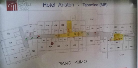 Parc Hotel Ariston & Palazzo Santa Caterina: Lageplan der Zimmer 1.Etage
