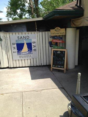 "The Sand Bar: The Sandbar entrance with the ""Seat Yourself"" sign"