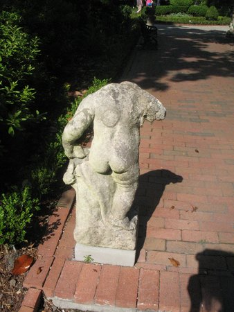 "Nathaniel Russell House: Statuary in the Garden - Loved the cute ""cheeks"""