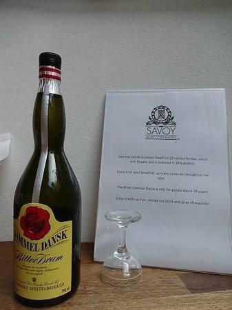 Savoy Hotel: デンマーク伝統酒