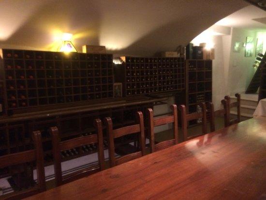 Ristorante Maffei: Wine cellar
