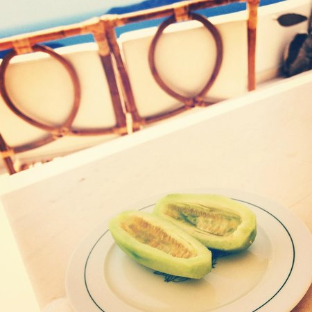 The Tsitouras Collection Hotel: Amazing local cucumbers that George shared with us
