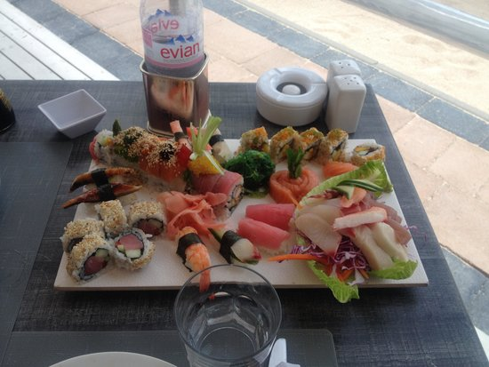 Dreams Beach Bar & Restaurant: Plateau sushi dreams pour 2