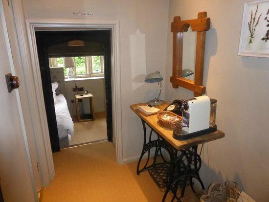 little hall to bedroom with nespresso coffee maker & tea - Picture ...