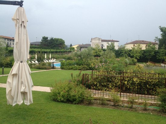 Agriturismo Antico Casale Bergamini: Pool and garden from Terrace