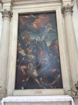 San Giorgio Maggiore: Painting above one of the altars