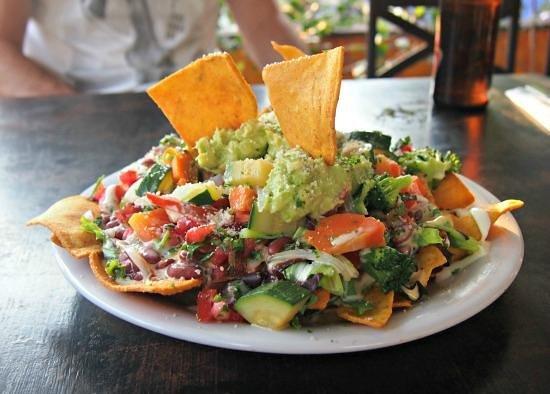 Cafe Sky: Vegetarian Nachos..yum! Photo World Travel Family