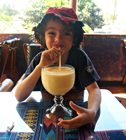 Huge Liquados at Cafe Sky Antigua. Photo World Travel Family