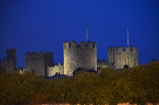 Castle Hotel: Conwy castle at night