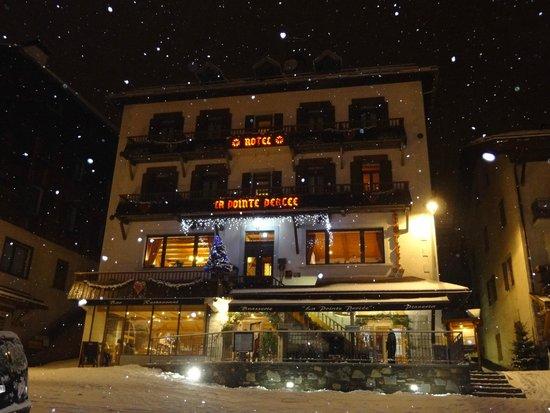 Hotel La Pointe Percée : la facade