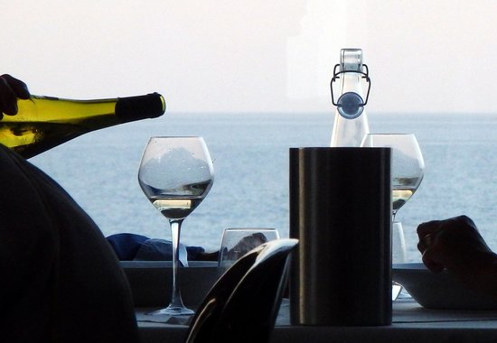 Carbis Bay Hotel & Estate: Dining with a view