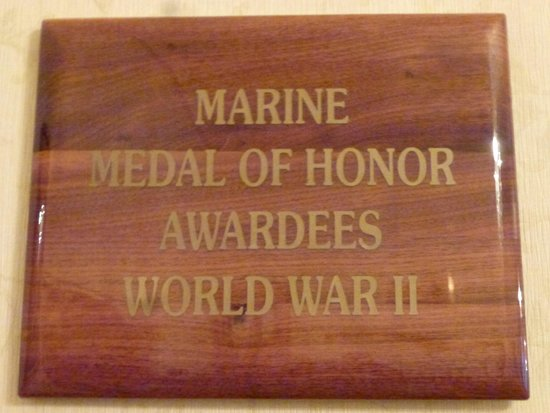 Marines Memorial Club Hotel: Plaque on Wall