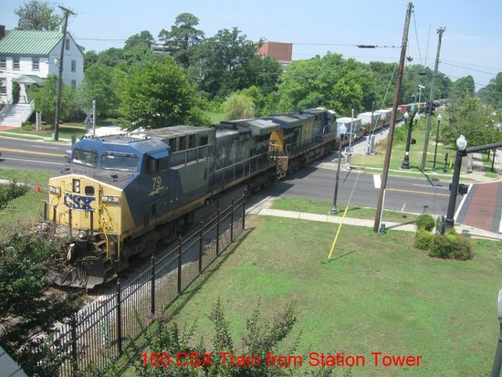CSX Train from the Depot Tower - Picture of Suffolk Seaboard