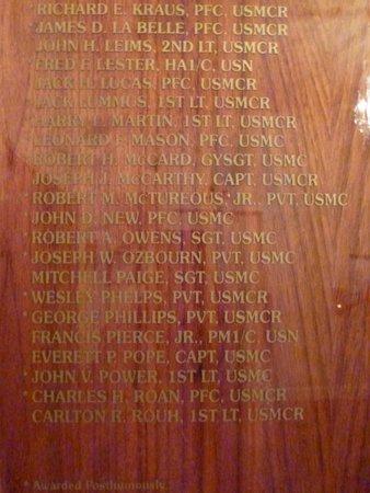 Marines Memorial Club Hotel: Medal of Honor Recepients