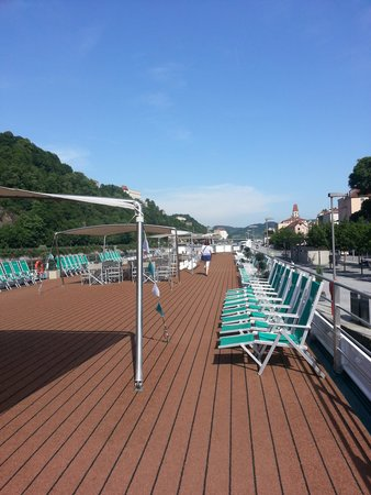 River Cruises: Amadeus Brilliant top deck in Passau