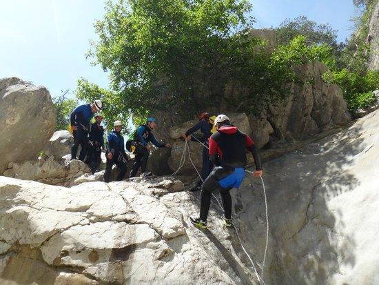 Bureau des Guides de Canyon : rappel au riolan