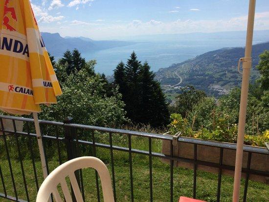 Blonay, Switzerland: Blick von der Terrasse des Les Pleiades