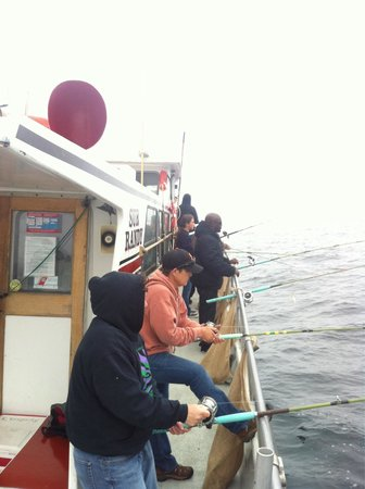 Randy's Fishing Trips and Whale Watching Trips: People fishing on our boat