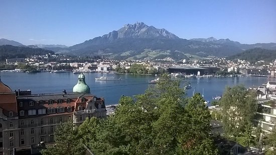 Art Deco Hotel Montana Luzern: View from the Restaurant