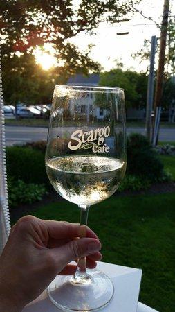 Scargo Cafe: Wine view :)