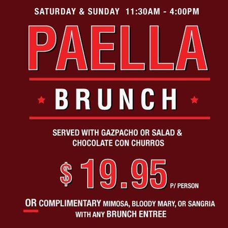 Socarrat Paella Bar: Paella Brunch